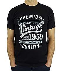 Idea Regalo - 1959 Vintage Year - Aged To Perfection - Regalo di Compleanno Per 60 Anni Maglietta da Uomo Nero L