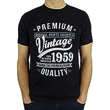 8d0bd7ed31c5 1959 Vintage Year - Aged to Perfection - 60 Ans Anniversaire Homme Cadeaux T -Shirt