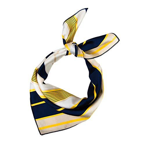 Mode Streifen Frauen Quadratischer Halstuch Hochwertiger Schal Damenschal Schalkragen Wickelschal Damen Kopftuch Frühling Herbst Winter ()