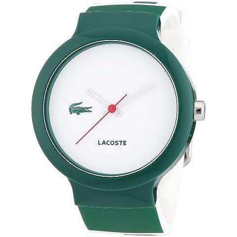 Lacoste 2020045 - Reloj analógico de cuarzo unisex con correa de silicona, color multicolor