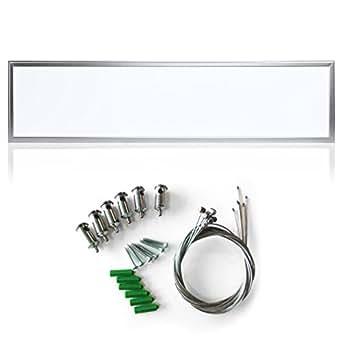 Auralum® Dalle Lumineux LED 54W 30x120cm, L'installation de Suspension, Plafonnier led de Plafond Mur, Lumière SMD2835 Blanc Froid 40500Lm