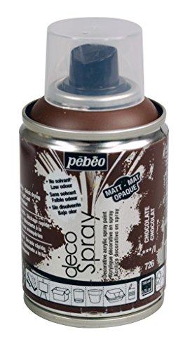 Pebeo decospray Acqua Vernice Spray per arte, artigianato e fai da te 100ml, Acrilico, Chocolate, 10.50 x 5.20 x 5.20