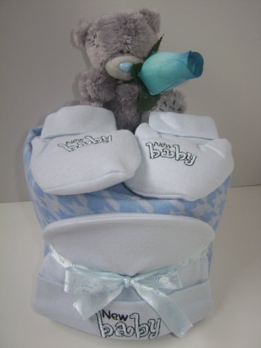 1 étagère panier cadeau bébé garçon Mini gâteau de couches ME-TO-YOU bébé cadeau