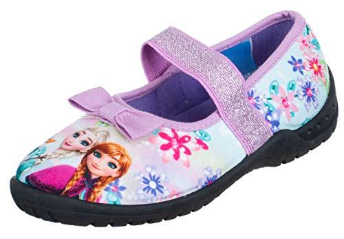 Brandsseller Mädchen Hausschuh Ballerina Frozen Eiskönigen - Lila ()