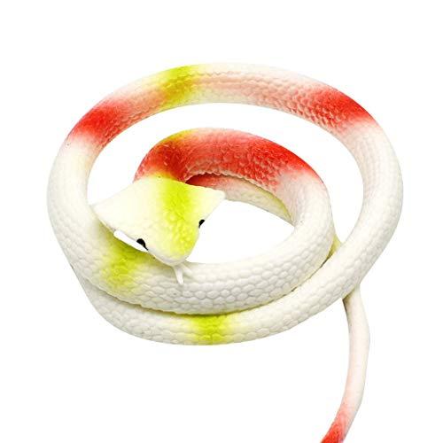 Weichgummi aus Kunststoff Cobra Gefälschte Schlange Spielzeug Streich Beängstigend Parodie Ganze Person Gummi Schlangen Party Tasche Füllstoffe Halloween Stütze Scherz Weich (Taschen 1-jährigen Halloween Für)