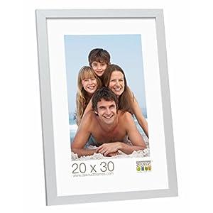 Deknudt Frames S44CD1-30.0X45.0 Bilderrahmen, Holz/MDF, Schlichter Stil, schmal, 48,5 x 33,5 x 1,47 cm, silberfarben