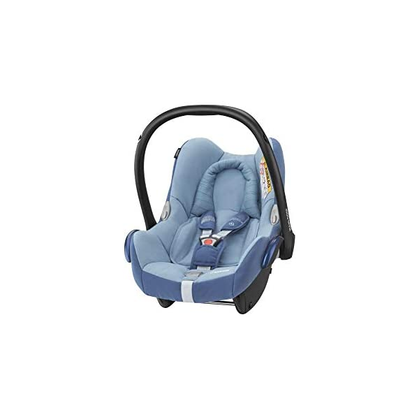 Maxi-Cosi CabrioFix Baby Car Seat Group 0+, ISOFIX, 0-12 Months, Frequency Blue, 0-13 kg Maxi-Cosi Baby car seat, suitable from birth to 13 kg (birth to 12 months) Side protection system for optimal protection against side impact Extra comfortable head support thanks to extra padding 1