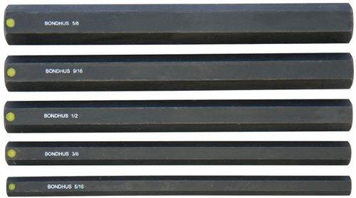 Bondhus 336455/16-5/86ProHold Sockel Bits ohne Sockets, Set von 5