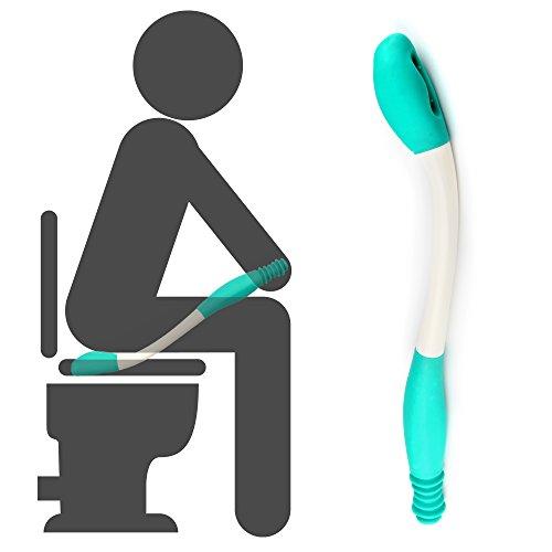 Fanwer WC-Hilfsmittel, Lange Reichweite Comfort Wipe, erweitert Ihre Reichweite über 40 cm Griffe Toilettenpapier Oder vorbefeuchtete Wischtücher