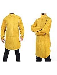 Delantal de cuero piel Chaqueta soldador Ropa Soldadura Ropa seguridad Proteccion trabajo Delantal piel Cuero