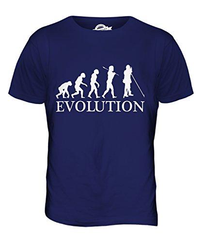 CandyMix Landvermesser Vermessung Evolution Des Menschen Herren T Shirt Navy Blau