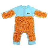 Baby Kleidung Overalls Wischmopp Spielanzug Babykleidung zum Krabbeln - Hellblau, 80 cm