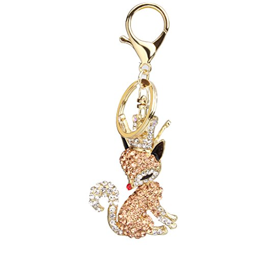 chaine-cristal-renard-cle-keyring-pendentif-champagne-en-strass