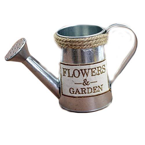 iShine Blumentopf Vintage Blumenvase aus Metall Pflanzen Vase Wasserkrug Eisentopf Blumen Schmiedeeisen Shabby Chic Vase Ländlicher Stil Vintage Eisenvase Deko für Garten - Vintage Garden Vase