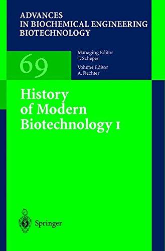 History of Modern Biotechnology I (Advances in Biochemical Engineering/Biotechnology)