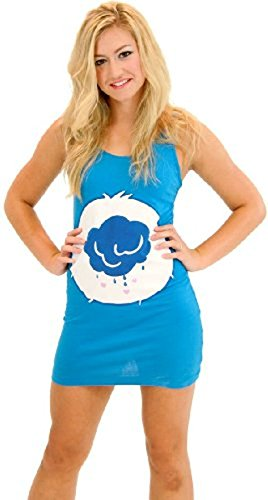 care-bears-grumpy-bear-blue-costume-tunic-tank-dress-grumpy-bear-blue-turquoise-juniors-x-large