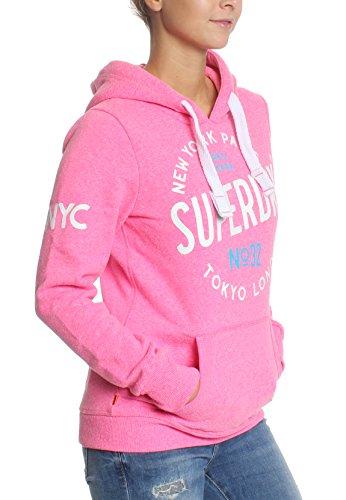 Superdry Sweater Damen CITY OF DREAMS Fluro Pink Snowy Pink