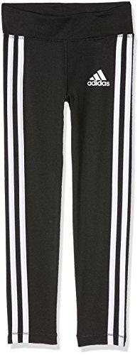 adidas Mädchen Gear Up 3-Stripes Tights, Black/White, 110