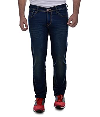 Ben Martin Men's Relaxed Fit Jeans (ABMJJ-3-GRN30_Dark Blue with Green Tint_30)