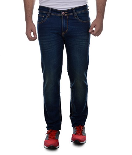 Ben Martin Men's Relaxed Fit Jeans (ABMWJJ-3-GRN34!_Dark Blue with Green Tint!_34)