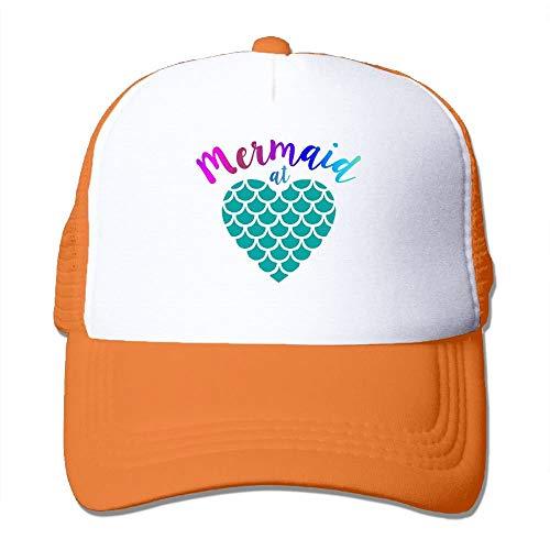 SOTTK Herren Damen Baseball Caps,Hüte, Mützen, Men/Women Mermaid at Heart Mesh Snapback Hats Adjustable Dad Hat