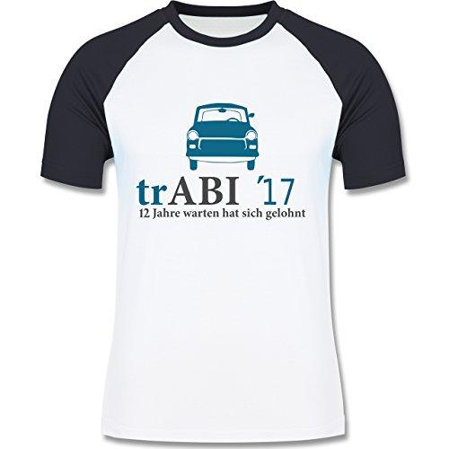 Abi & Abschluss - trAbi 2017 - Oldtimer - zweifarbiges Baseballshirt für Männer Weiß/Navy Blau