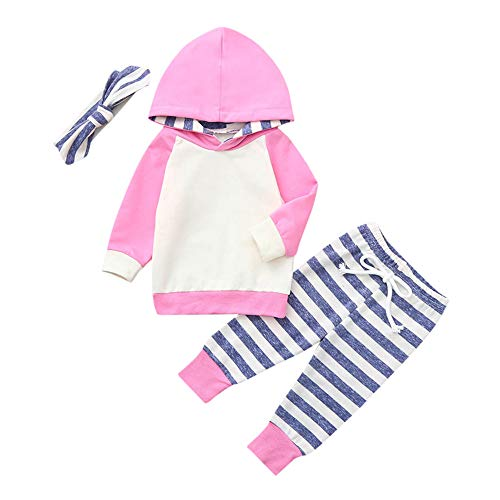 Covermason Baby Babykleidung Neugeborene Herbst,Covermason 3 Stück Kleinkind Baby Junge Mädchen Kapuzenpullover Tops + Hosen + Stirnband Set Outfits