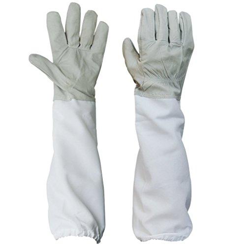 Westeng 1 paire Apiculture Gants de protection avec ventilé manches longues