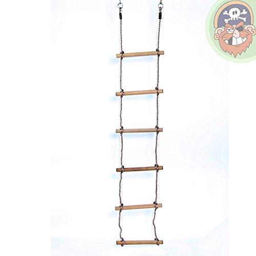 Strickleiter mit 6 Holzsprossen von Gartenpirat®