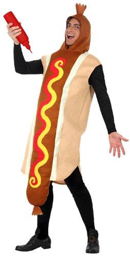 Hot dog-Kostüm für Erwachsene - (Dog Kostümen Hot)
