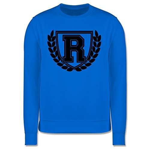 Anfangsbuchstaben - R Collegestyle - Herren Premium Pullover Himmelblau
