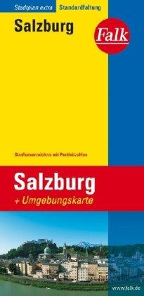 Falk Cityplan Extra Standardfaltung International Salzburg mit Straßenverzeichnis