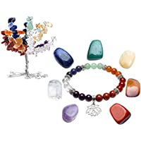JOVIVI 7 Chakras Baum des Lebens Dekoration+Energietherapie Yoga Armband+ Edelstein Edelsteinset preisvergleich bei billige-tabletten.eu
