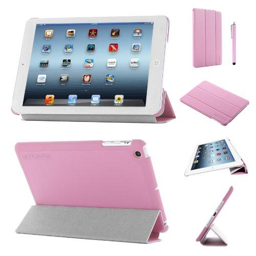 Stuff4®PU Leder Slim zusammenklappbar Multi Position Fall mit Tri Fold Ständer für iPad Mini/Mini Retina-Pink (Ipad Mini Retina Case-portfolio)