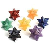 Reiki heilende Energie geladen Krystal Gifts UK Chakra Crystal Merkaba-Stern Set von sieben (Wunderschön als Geschenk... preisvergleich bei billige-tabletten.eu