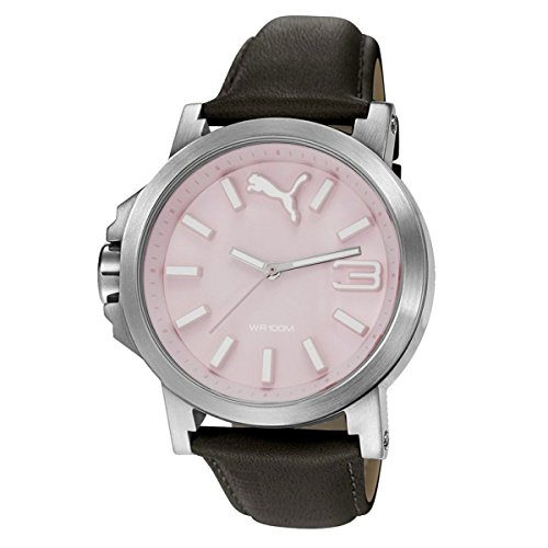 Puma Time Women's Quartz Watch with Pink Dial Analogue Display and Leather bronze - PU103462010