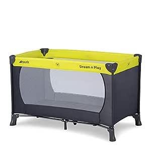 Hauck Dream'n Play Reisebett, 3-teilig, 120 x 60 cm, ab Geburt bis 15 kg, inkl. Matratze, Tragetasche (faltbar, tragbar, leicht und kippsicher), Grün
