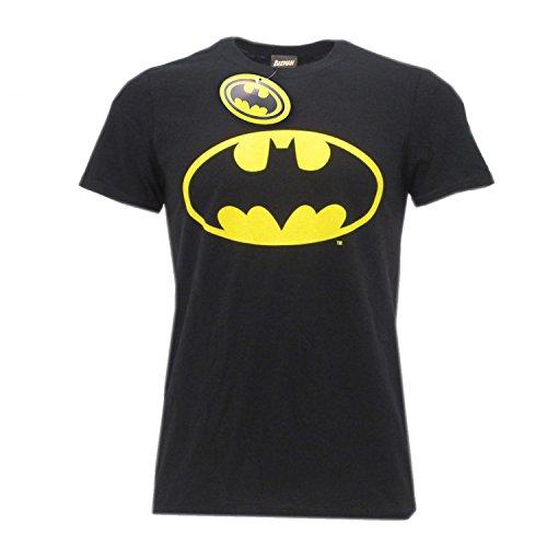T-shirt logo batman super eroe dc comics maglia maglietta – ufficiale originale warner bros (medium)