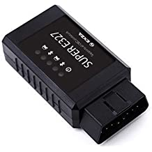 SUPER ELM327 EOBD OBD 2 OBD2 Bluetooth para diagnóstico de coche. Aparato de diagnóstico, Android Torque coche escáner de diagnóstico de interfaz CAN