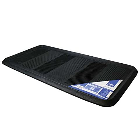 JVL Multifunctional Rubber Shoe Drip Tray Boot Storage Door Mat - Black