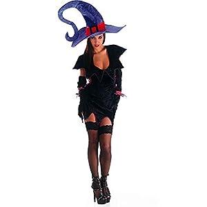 Carnaval Juguetes - 82003 y sombrero de bruja y guantes, tamaño S