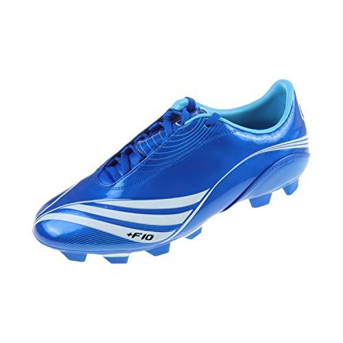 adidas Kinder Schuhe Unisex Fußballschuh für Rasen Sportschuh Stollenschuh F10+ TRX FG Blau 011767 (40 2/3 EU)