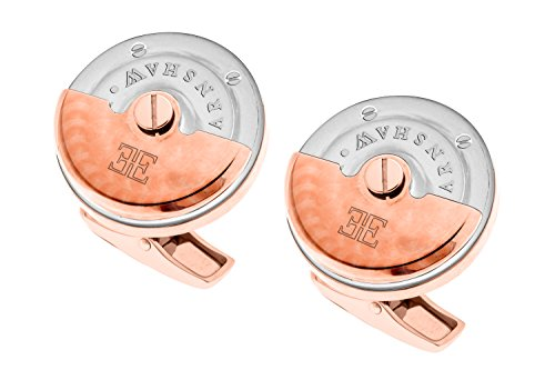 Thomas Earnshaw Silber/Rose Gold Rotor Manschettenknöpfe