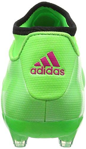 adidas Ace 16.2 Primemesh FG/AG, Chaussures de Football Compétition Homme Vert (Solar Green/Shock Pink/Core Black)