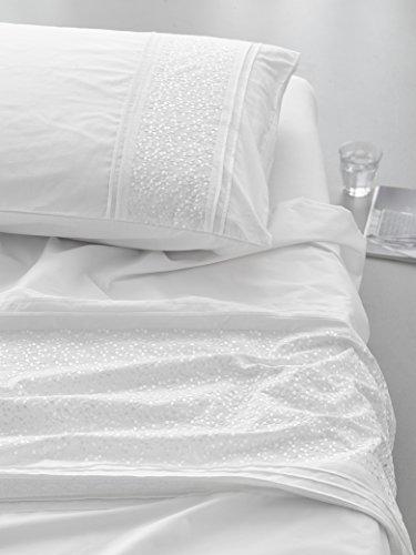 Essenza Perkal Bettwäsche Aylin White 155x220 cm + 80x80 cm