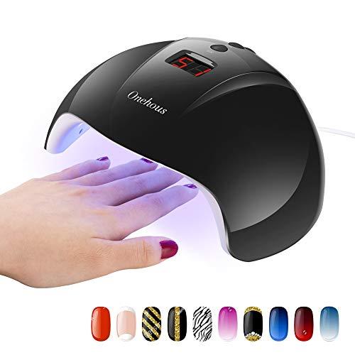 Nageltrockner für Alle Nagellacke - Professioneller 24W LED UV Nagellampe für Normalen Gel Nagellack, Nagellampe mit Timer 30S / 60S / 99S kuriert, USB Interface Netzteil 24W Nageltrockner