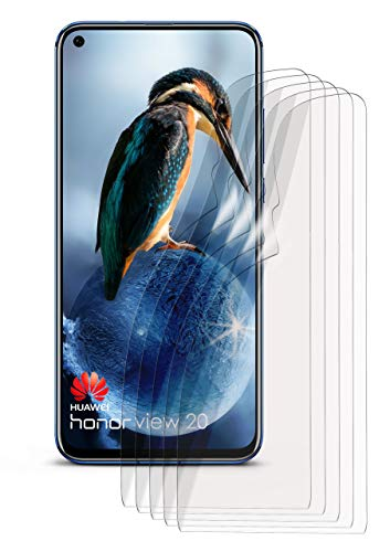 moex 5X Huawei Honor View 20 | Schutzfolie Klar Bildschirm Schutz [Crystal-Clear] Screen Protector Display Handy-Folie Dünn Bildschirmschutz-Folie für Huawei Honor V 20 Bildschirmfolie