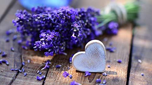 tück DIY Lavendel Herz Liebe Ornamente Puzzle Für Erwachsene Kinderfreund ()