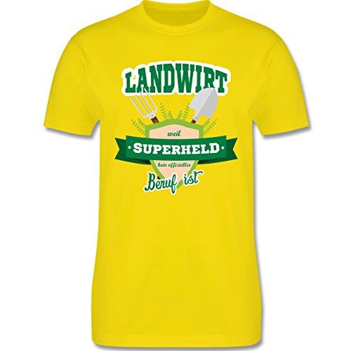 Shirtracer Landwirt - Landwirt - Weil Superheld Kein Offizieller Beruf ist - Herren T-Shirt Rundhals Lemon Gelb