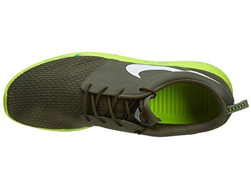 Roshe Run Marble Sport Entraîneur Chaussures Medium Olive / White / Volt Green